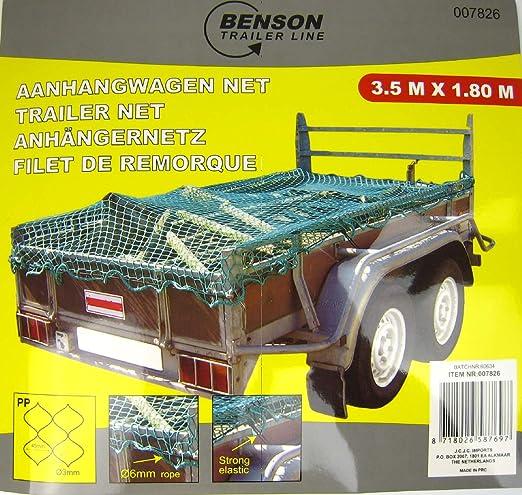 Anhängernetz Dehnbar Elastisch Gepäcknetz Für Pkw Anhänger 3 5 X 1 8 Meter Küche Haushalt