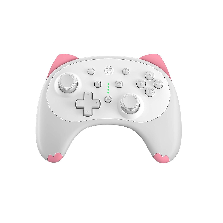 Amazon Com Iine Cartoon Kitten Wireless Controller For Nintendo Switch Lite White Small Size Video Games
