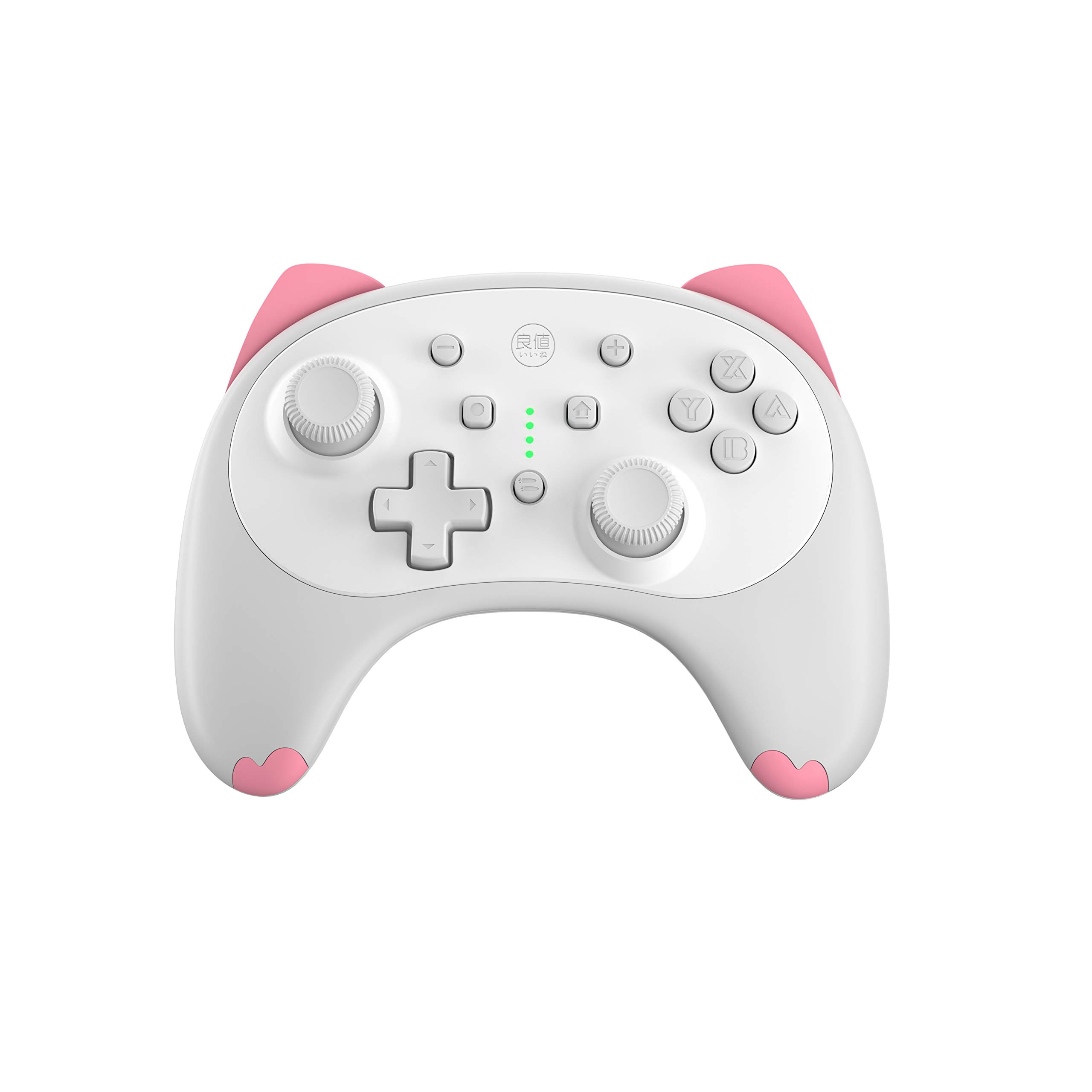 IINE Cartoon Kitten Wireless Controller for Nintendo Switch/Lite White,Small Size