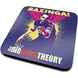 The Big Bang Theory Sheldon Bazinga Official New Purple Coaster (10cm x 10cm)