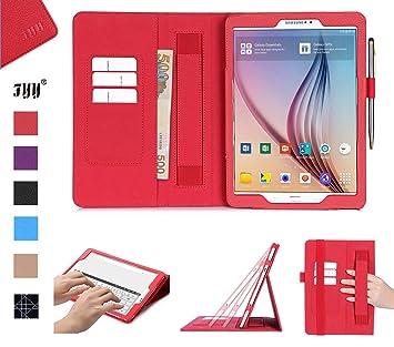 FYY Hülle für Samsung Galaxy Tab S2 9.7 - PU Leder Stand Folio Tasche mit Auto Schlaf/Wach Funktion Smart Cover Smart Cover-R