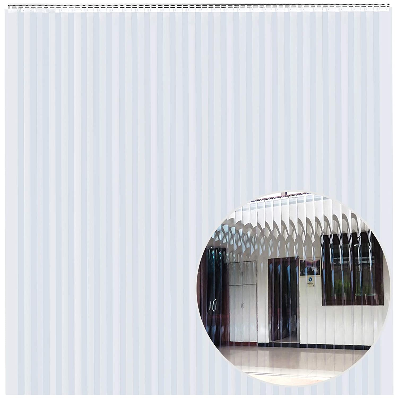 VEVOR 30PCS Vinyl Strip Door Curtain 10 x 7 Feet PVC Strip Curtain with 5cm Overlap 2mm Thickness Plastic Door Curtain for Freezer Doors Warehouse Doors W x H
