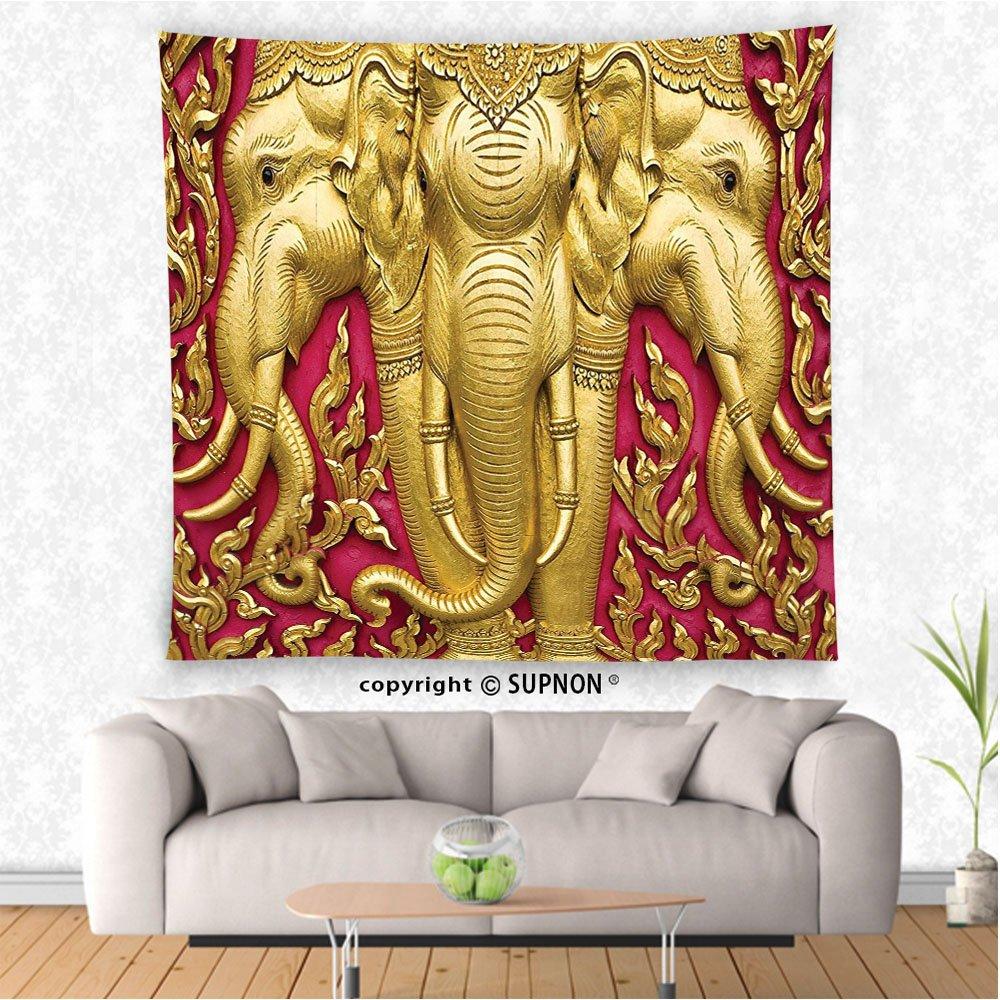 Amazon.com: VROSELV custom tapestry Elephant Tapestry Decor Tapestry ...