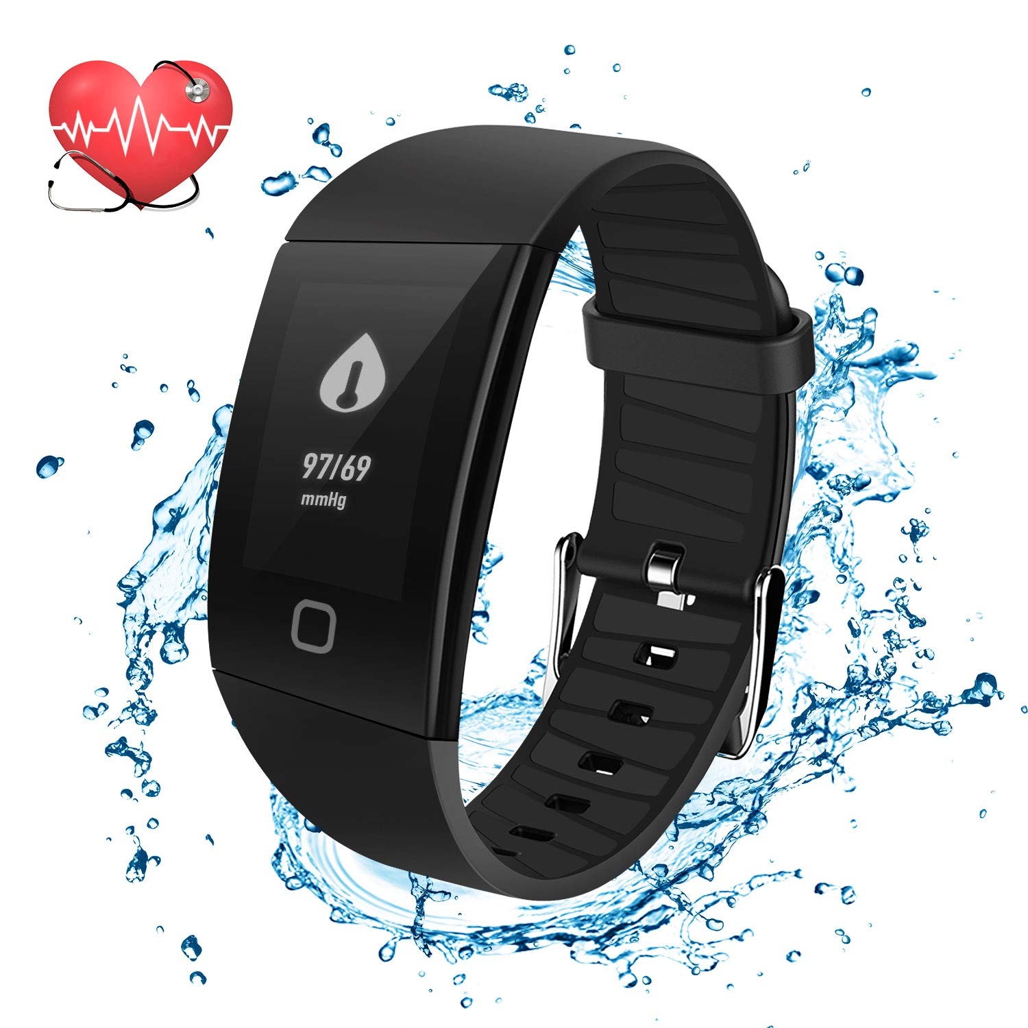 Mbuynow Fitness Tracker, Fitness Watch Activity Tracker with Heart Rate Monitor Watch, Waterproof Smart Bracelet with Step Counter, Calorie Counter, Pedometer Watch for Kids Women and Men