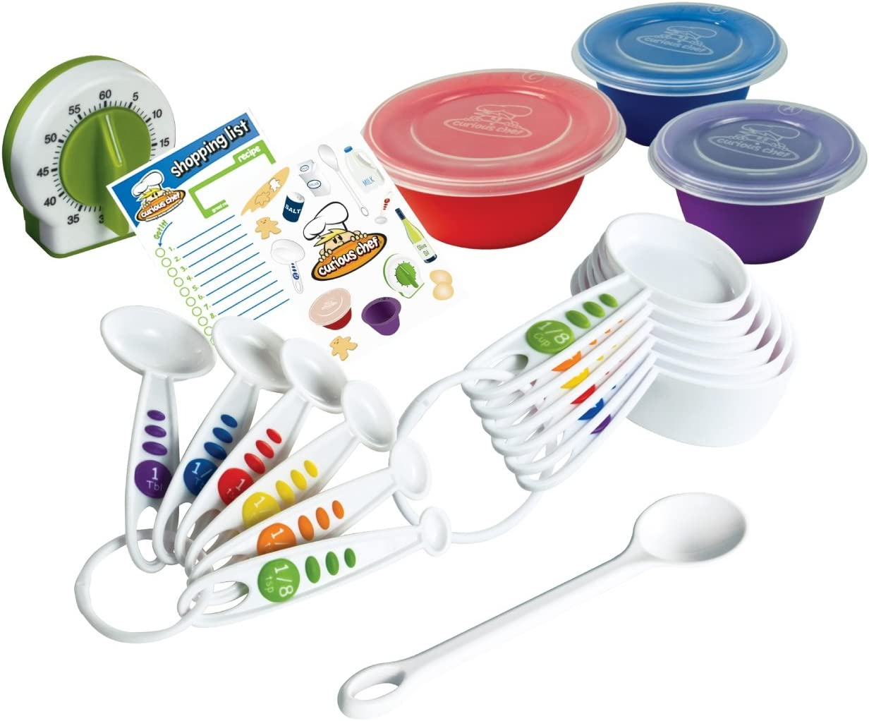 Curious Chef TCC50039 6-Piece Measuring Spoon Set One