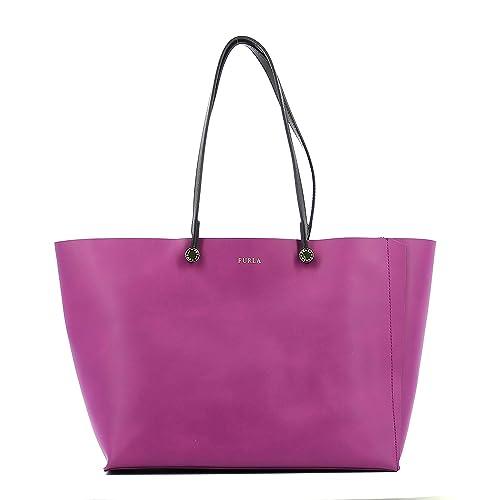 81438c1e4a5 Furla bolsos con asas largas para compras mujer en piel nuevo violeta   Amazon.es  Zapatos y complementos
