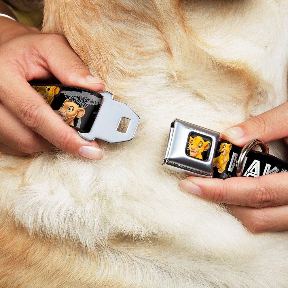 1 x11-17 Buckle-Down DC-WDY046-M Dog Collar Seatbelt Buckle-Lion King Simba and Nala Hakuna Matata