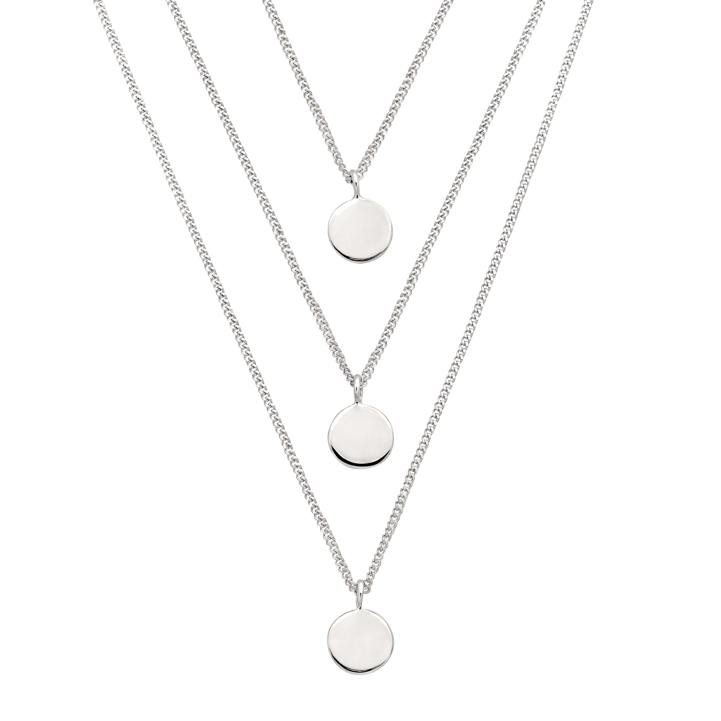 Silpada 'Descending Disc' Layered Necklace in Sterling Silver