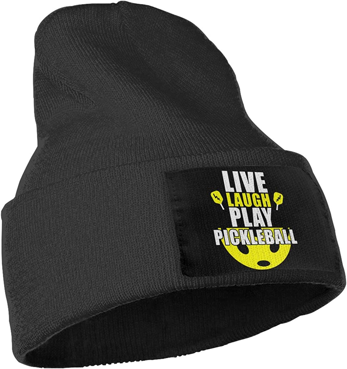 COLLJL-8 Unisex Live Laugh Play Pickleball Outdoor Fashion Knit Beanies Hat Soft Winter Knit Caps