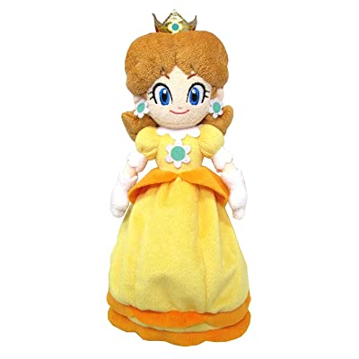 "Sanei Super Mario All Star Collection 9.5"" Daisy Plush, Small: Toys & Games"