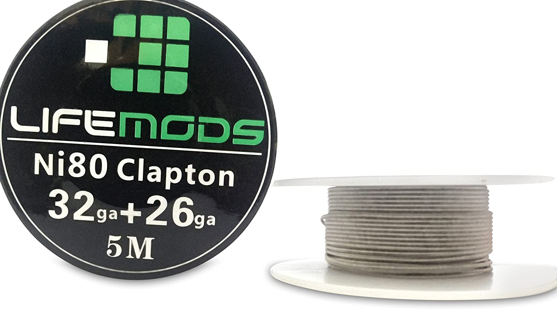 LifeMods carrete de Clapton Nichrome (Ni80) calibre AWG 32/26 5 Metros / rollo CECOMINOD010831