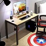 DlandHome Escritorio para computadora de Juegos, Mesa de Juego/estación de Trabajo de 120 * 60 cm con Soporte para…