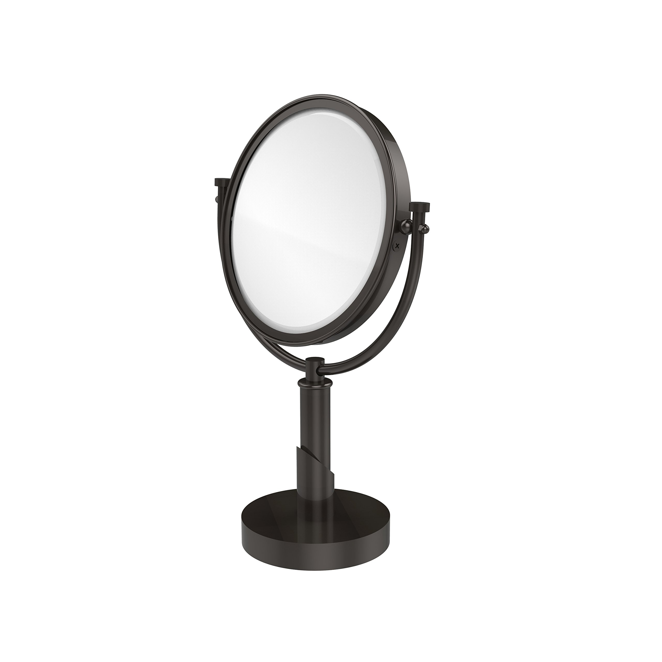 Allied Brass TR-4/2X-ORB Table Mirror with 2X Magnification, Oil Rubbed Bronze