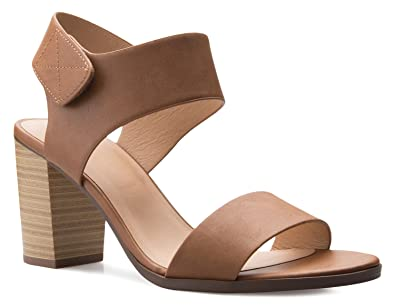 bab23355a OLIVIA K Women's Peep Toe Sandal - Low Stacked Heel - Open Toe Ankle Heel  Cutout