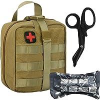 BUSIO Trauma First Aid Kit-Tactical Bag Military Combat Tourniquet+6 inch Emergency Israeli Bandage+ Medical EMT Scissors-IFAK Paramedic Sports