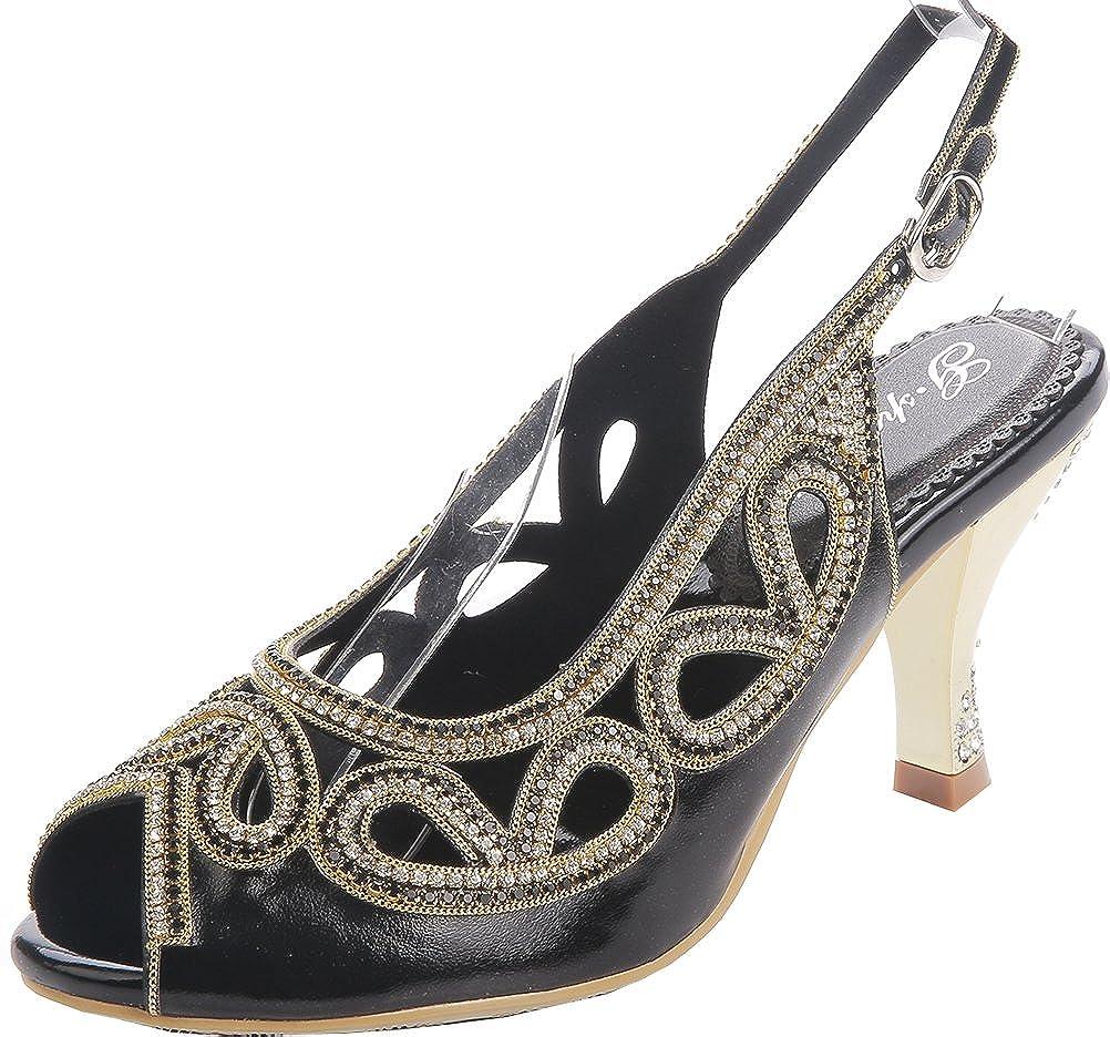 Salabobo Womens Comfort Weddge Peep Toe Sandals Wedding Dress Bride Party Work L026