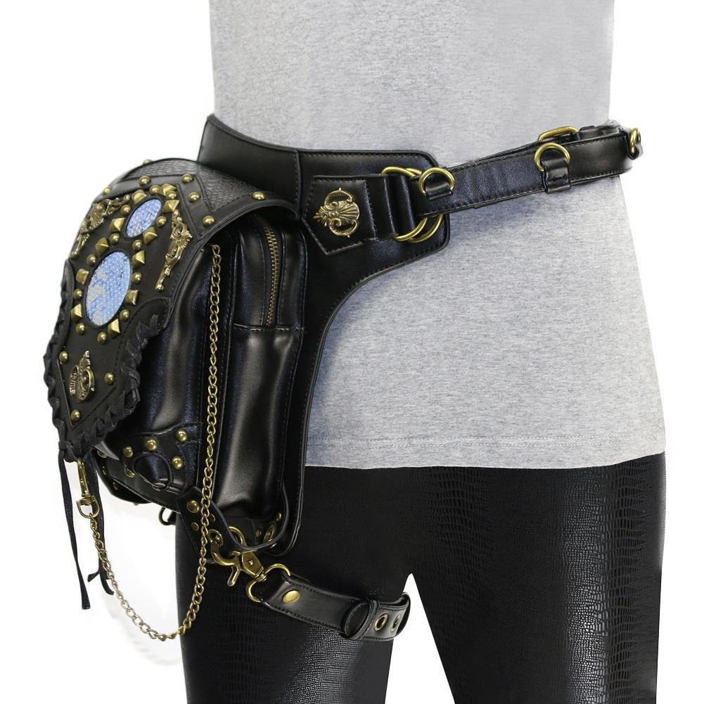 WPYZL Multi - functional women 's shoulder oblique cross - chain package punk pockets by Bumbag&KAIMENDAJI (Image #5)
