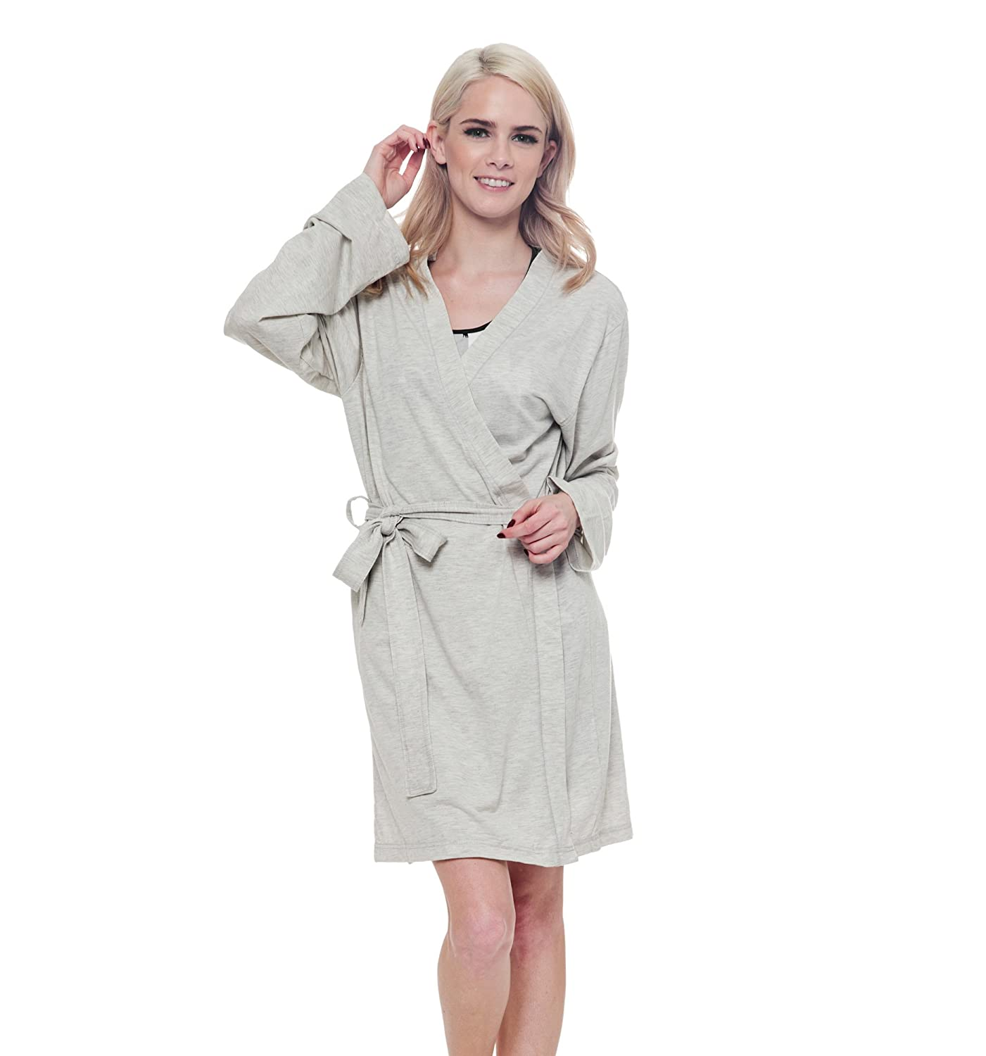 MJC International Ladies Snooze Button Robes (Off-White 22f2d82e8
