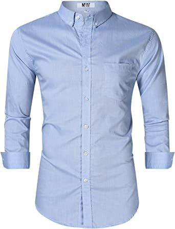 Camisa Oxford de manga larga para hombre, corte regular, para hombre - - Medium: Amazon.es: Ropa y accesorios