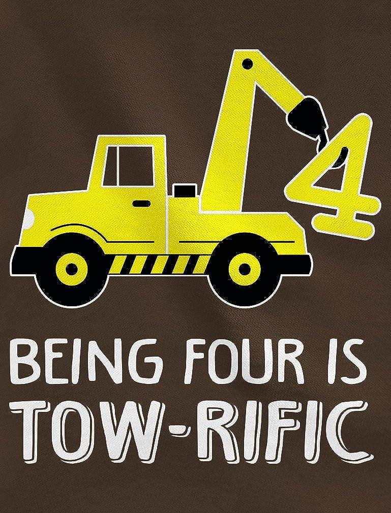4th Birthday Tractor Construction Party Toddler//Kids Sweatshirt Tstars