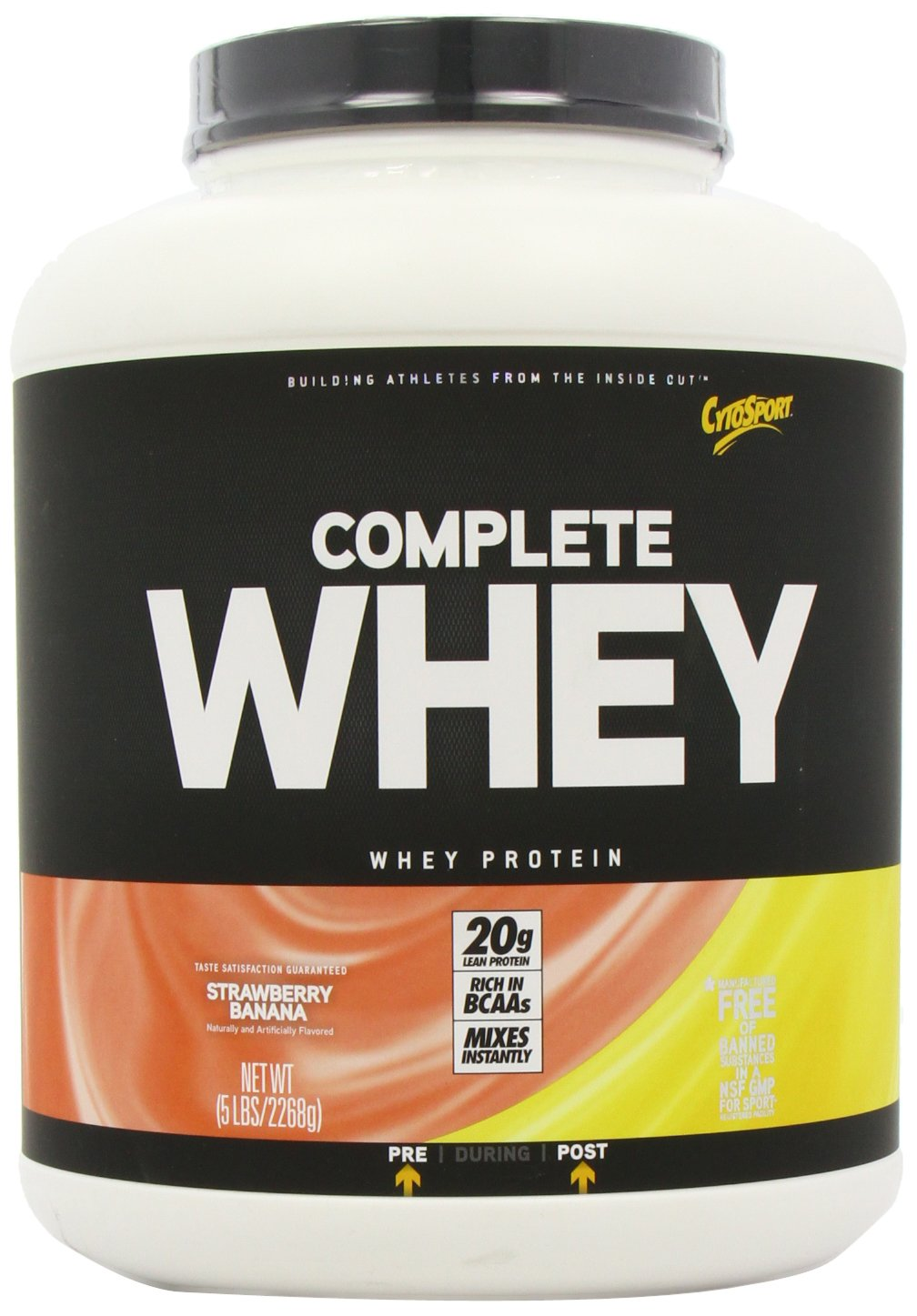 CytoSport Complete Whey Protein, Strawberry Banana, 5 Pound