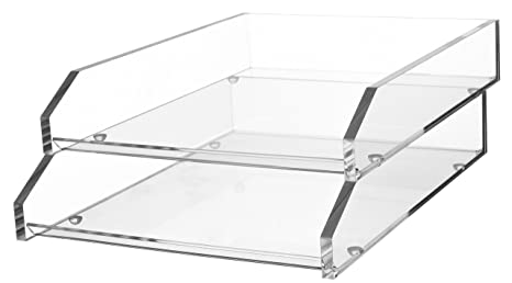 Stupendous Kantek Acrylic Double Letter Tray 10 6 Inch Wide X 13 9 Inch Deep X 4 8 Inch High Clear Ad15 Download Free Architecture Designs Oxytwazosbritishbridgeorg