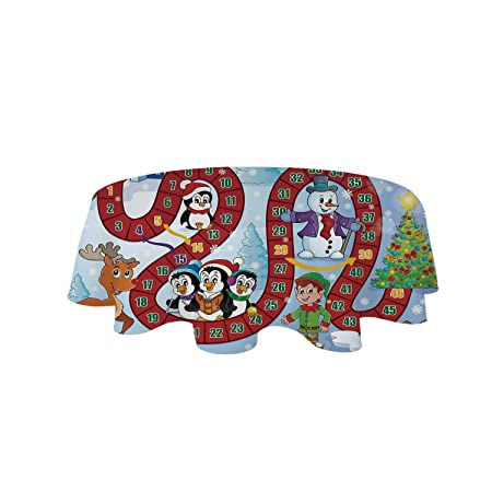 YOLIYANA Juego de Mesa Varios Mantel, diseño navideño con Papá ...
