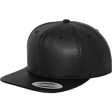 Yuppong - Gorra/visera Estilo Snapback de piel Modelo Faux Leather ...