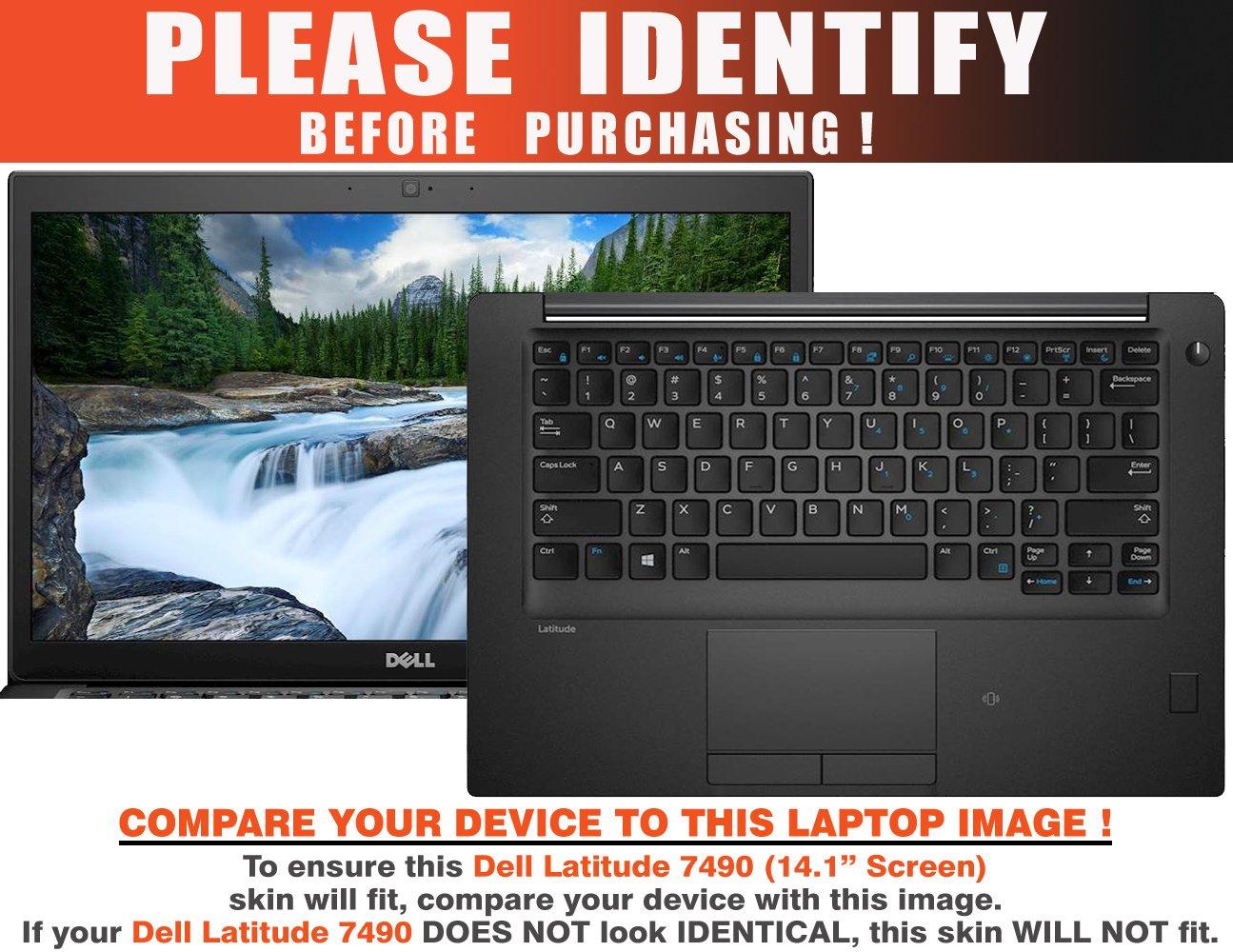 decalrus Protective Decal Patriotic Skin Sticker for Dell Latitude 7490 (14'' Screen) case cover wrap DElatitude7490-192 by decalrus (Image #2)