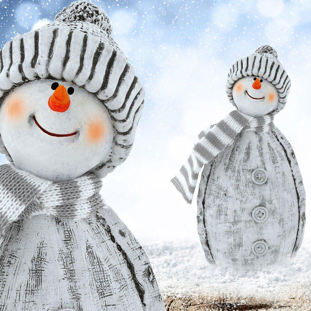 etc-shop 2er Set Stand Schneem/änner Tisch Deko Figuren Shabby Look Weihnachten