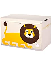 3 Sprouts Kids Toy Chest - Large Storage for Boys and Girls Room, Lion