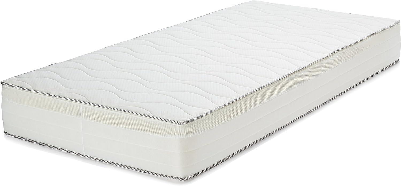 AmazonBasics Colchón extra confort de muelles de 7 zonas, 90 x 190 cm