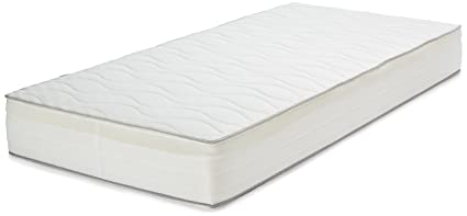 AmazonBasics - Materasso singolo extra comfort a molle, a 7 zone, 90 ...