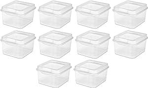 Sterilite 18038612 Small Clear Flip Top Storage Box