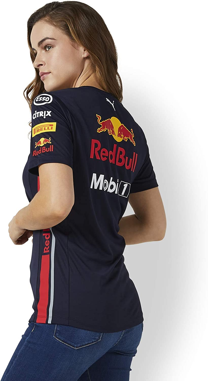 Red Bull Racing Official Teamline Camiseta, Azul Mujer X-Small Top ...