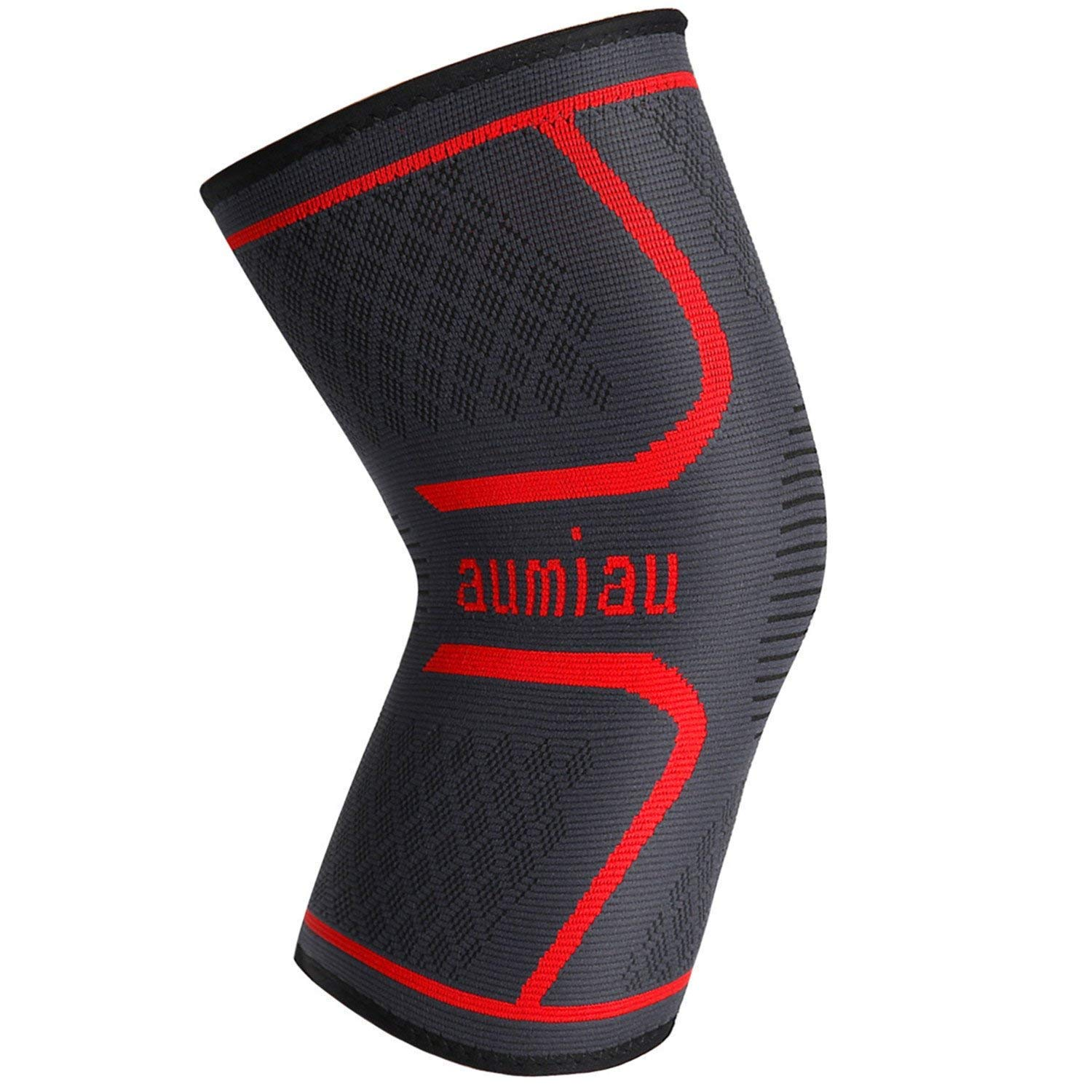 Knee Brace, Compression Knee Sleeve Support for Running, Biking, Jogging, Sports, Basketball,Joint Pain Relief, Meniscus Tear, ACL, Arthritis and Injury Recovery AUMIAU