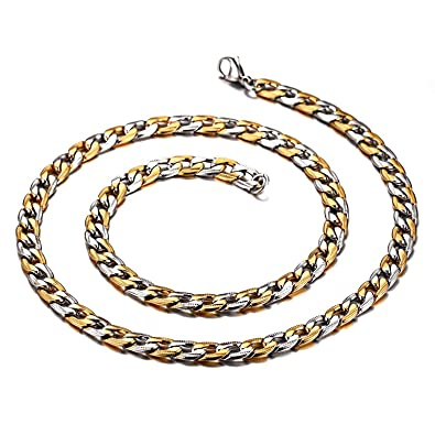 2dbb961435b XingYue Jewelry Classic Mens Womens Necklace Curb Link Chain 316L Stainless  Steel Silver Gold Chain 24