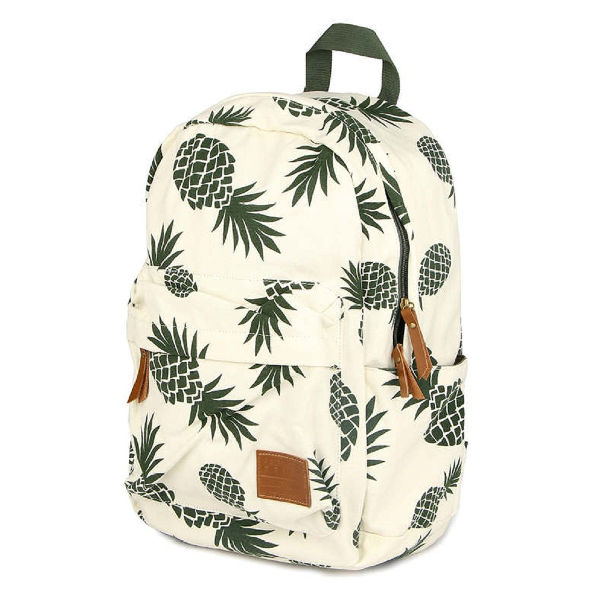 a1479e5f3f29 CCOHO White Pineapple School Backpack Travel Daypack College Canvas Bookbag  Laptop Bag Laptop Packs Women