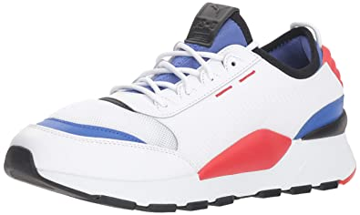 57d77d76cdf4 PUMA Men s RS-0 Sound Sneaker White-Dazzling Blue-high Risk Red