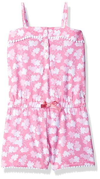 4516ddcd0 Nautica Baby Girls' Printed Jersey Romper pom Trims, Light Pink, 12 Months
