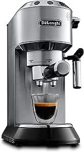 De'Longhi Dedica EC685M - Cafetera tipo barista de acero inoxidable para espresso, lungo y cappuccino, control semi-automático programable, diseñado en Italia