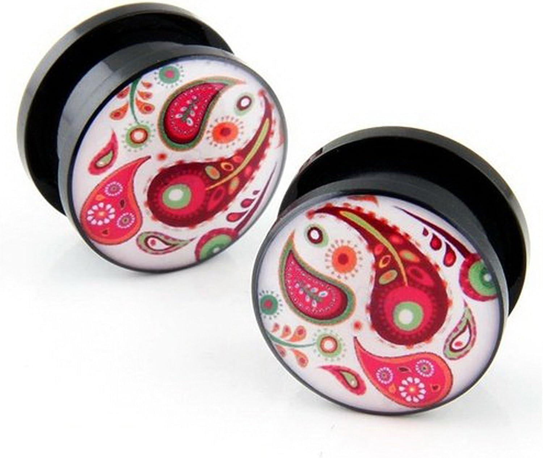 JewelryVolt 2 pairs of ear gauges 1//2 acrylic ear plugs gauges
