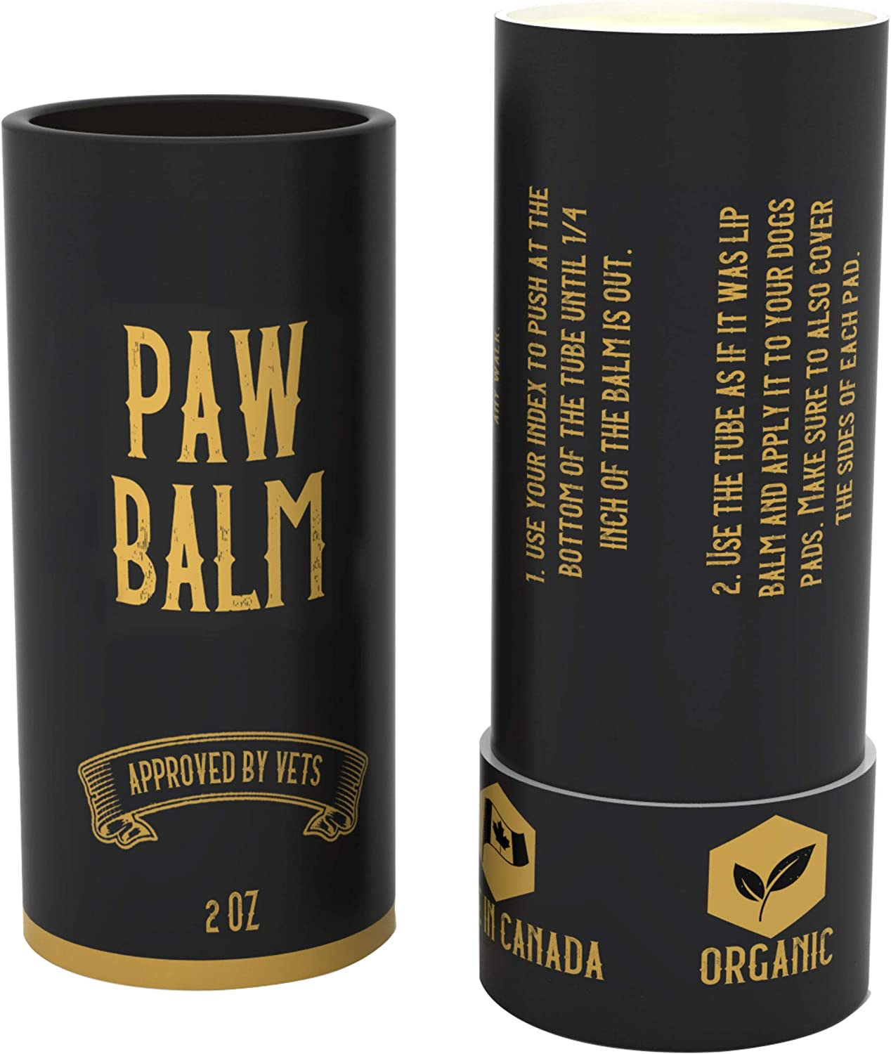 SÄKER Handmade Organic Dog Paw Balm - The Most Advanced All Natural Protection Against Cold & Chemicals in Ice Salt. Made in Canada. Our Dog Paw Wax can heal Dry and Cracked paw Pads