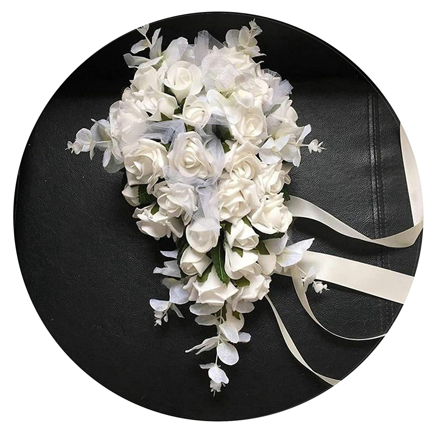 Wedding Bouquets Good Buque Noiva Purple White Bridal Bouquet Artificial Waterfall Flowers Bridesmaid Romantic Handmade Pe Wedding Bouquet For Bride Wedding Accessories