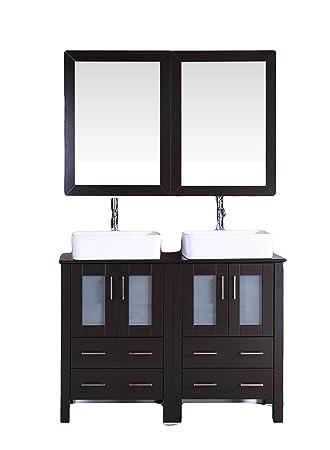 Bosconi Bathroom Vanities 48 Double Vanity Set With Rectangle