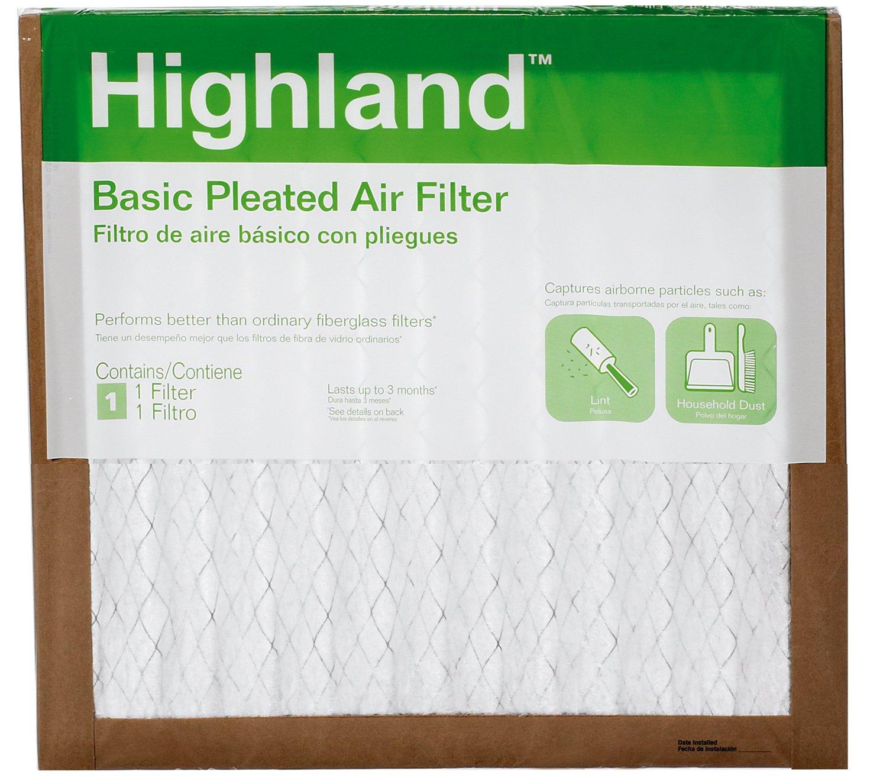 3M FBA11DC-6 Highland Basic Pleated Air Filter, 14'' x 14'' x 1''