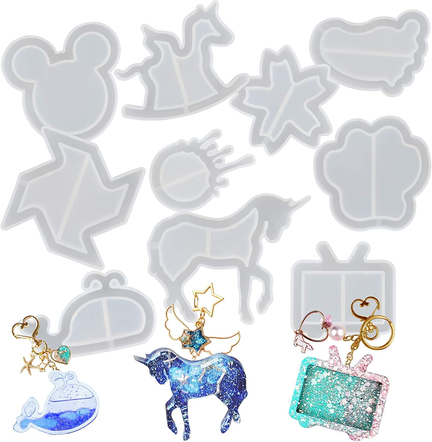 Brand New Horse Unicorn Silicon Shaker Mold For Uv And Epoxy Resin Uk Seller
