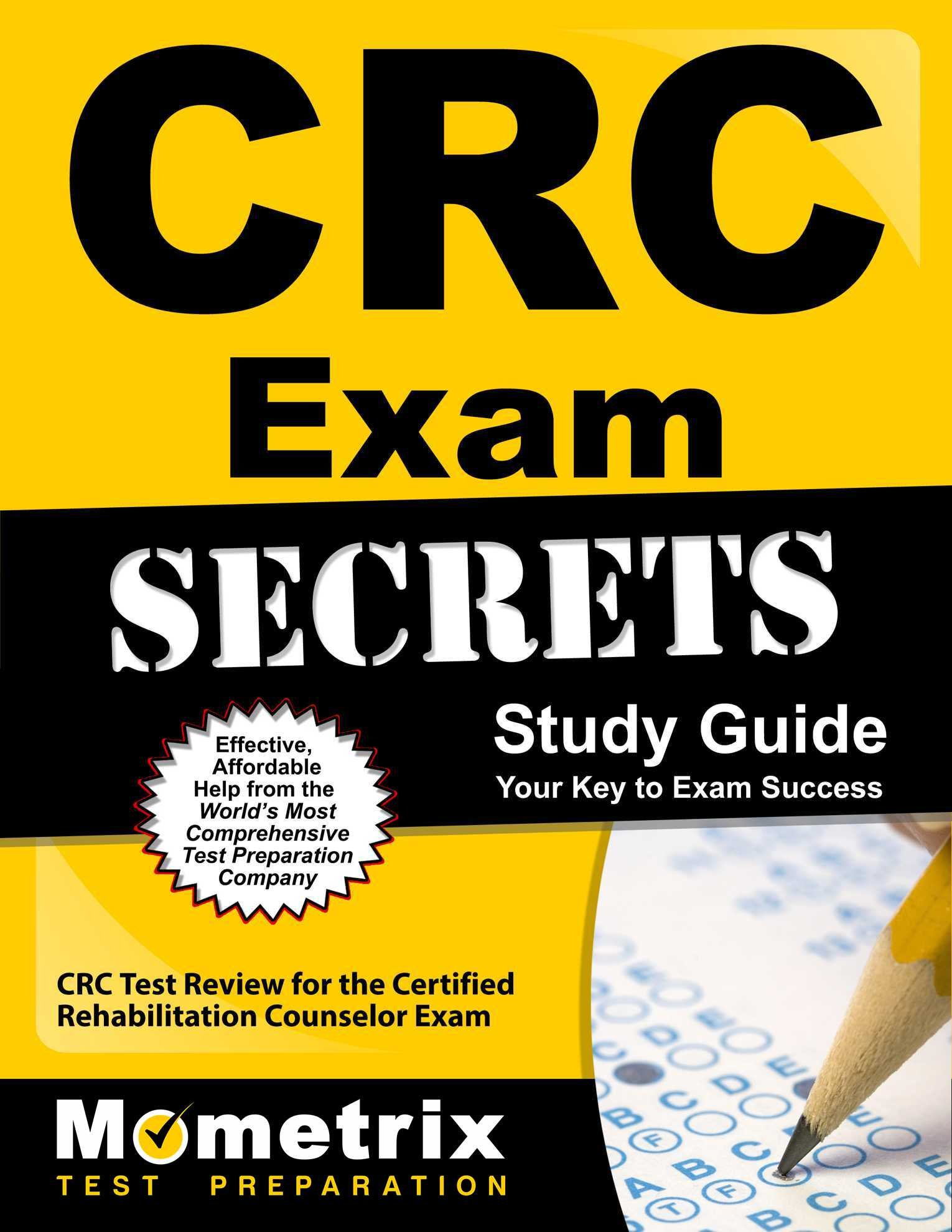 Buy Crc Exam Secrets Crc Test Review For The Certified