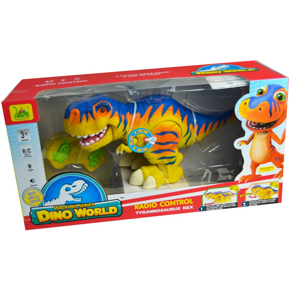 Dinosauro BIG-DINO T-Rex Radiocomandato Con Suoni e Movimento Bambini Grandi Giochi