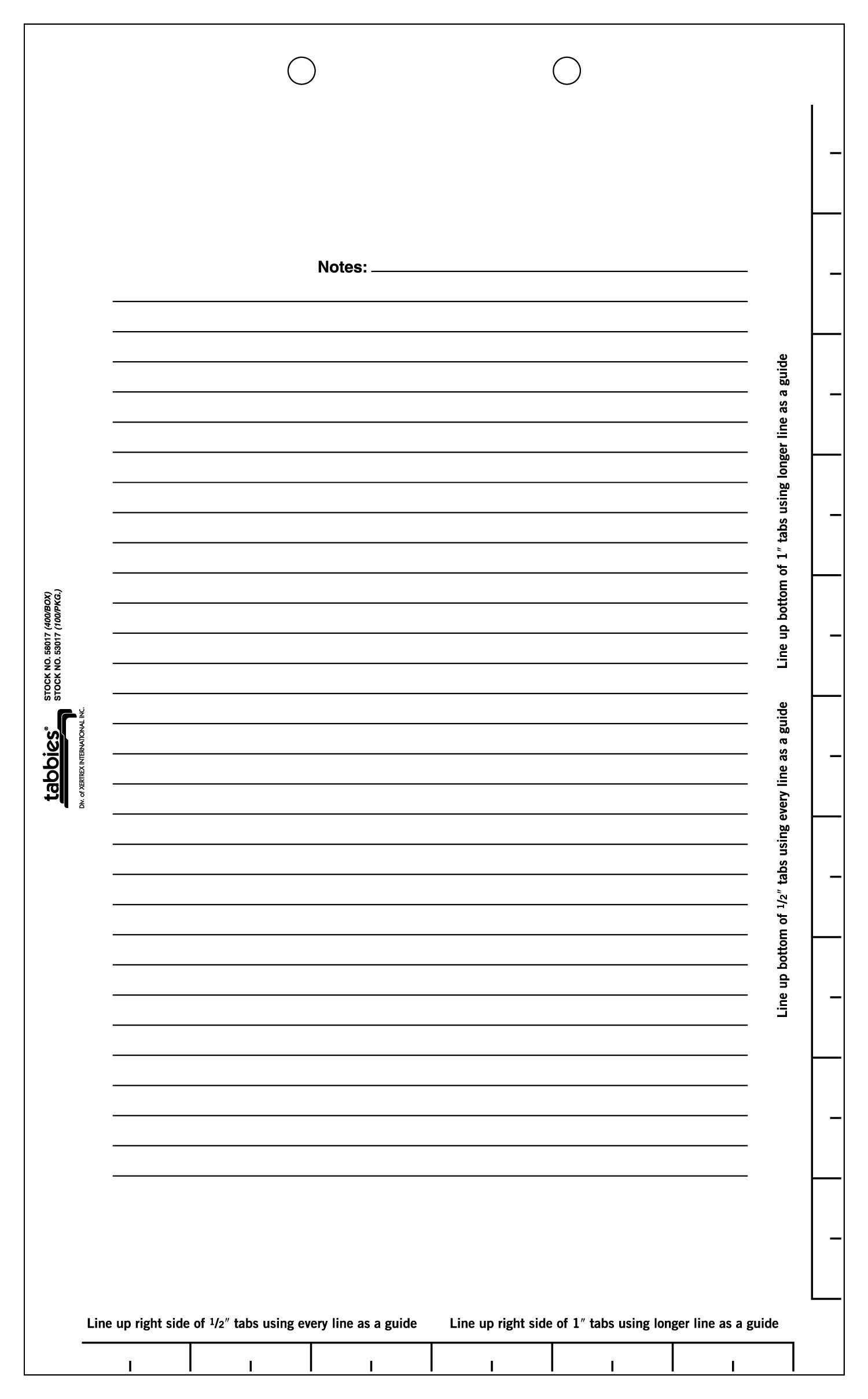 Tabbies Legal Index Divider Sheets, White, 8-1/2''W x 14''H, 2-Hole Punched, 400 Dividers/Box (58017) by tabbies